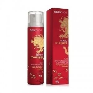 Spray Chinês - Gel Aromatizado - Vibra, Esquenta e Esfria 15ml